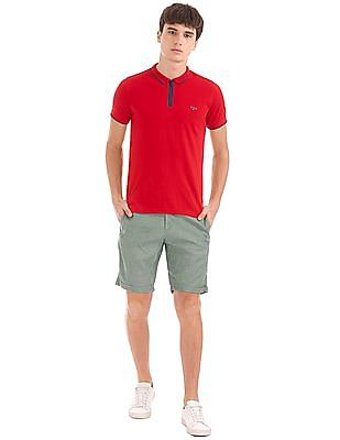 Flying Machine Slim Fit Linen Viscose Shorts