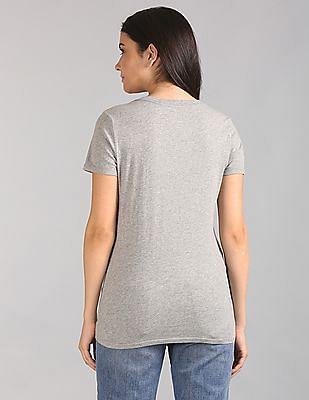 GAP Short Sleeve V-Neck Vintage Wash T-Shirt