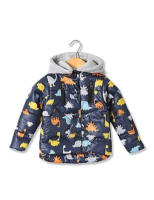 Donuts Boys Printed Puffer Jacket