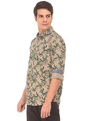 Cherokee Regular Fit Floral Print Shirt