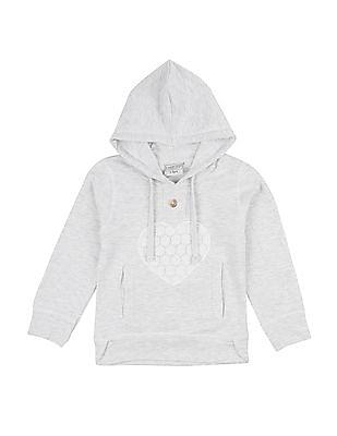 Cherokee Girls Lace Applique Hooded Sweatshirt