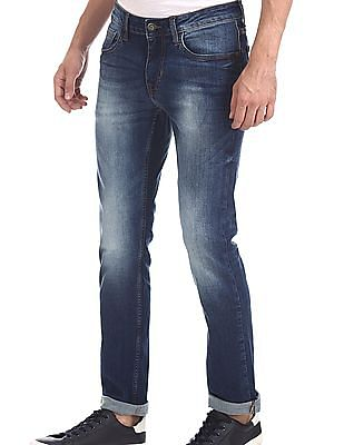 Cherokee Blue Low Waist Washed Jeans