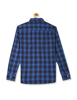 Flying Machine Detachable Hood Check Shirt