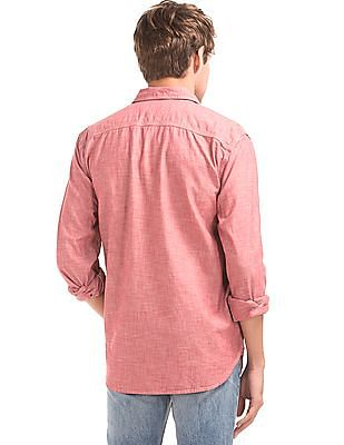 GAP Men Red 1969 Icon Worker Chambray Shirt