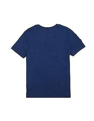 U.S. Polo Assn. Kids Boys Regular Fit Appliqued T-Shirt