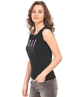 Elle Brand Sequin Embellished Top