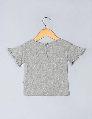 GAP Toddler Girl Ruffle-Sleeve Graphic T-Shirt