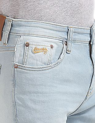 Aeropostale Slim Straight Fit Ripped Jeans