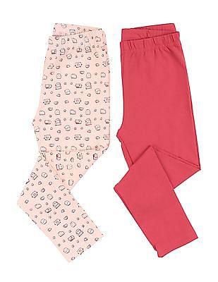 Cherokee Girls Knit Leggings - Pack Of 2
