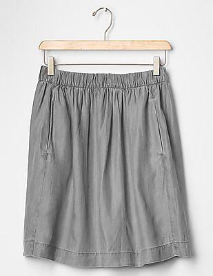 GAP 1969 Tencel Denim Grey Circle Skirt