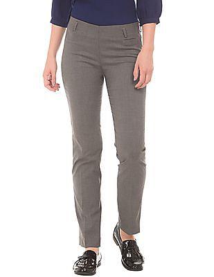 Arrow Woman Elasticized Waist Patterned Trousers