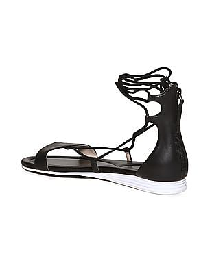 Cole Haan Lace Up Leather Sandals