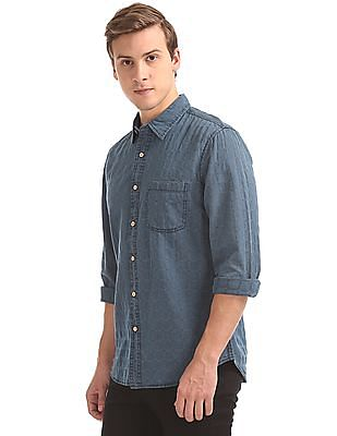 Cherokee Regular Fit Patterned Weave Shirt