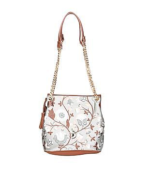 U.S. Polo Assn. Women Floral Embroidered Hand Bag