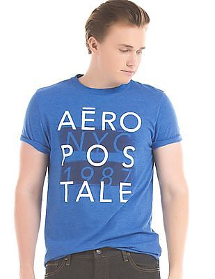 Aeropostale Melange Graphic Print T-Shirt