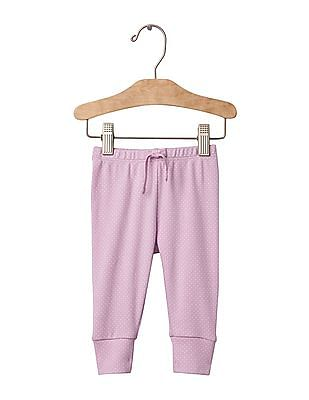 GAP Baby Purple Dotty Band Pants