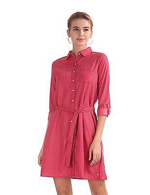 U.S. Polo Assn. Women Geometric Printed Shirt Dress