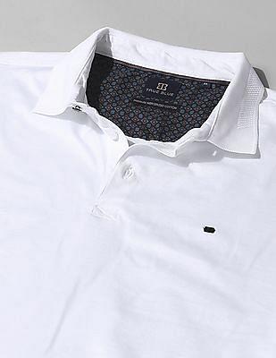 True Blue Slim Fit Solid Polo Shirt