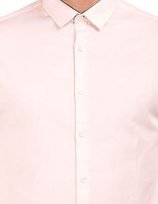 Flying Machine Patterned Weave French Placket Shirt