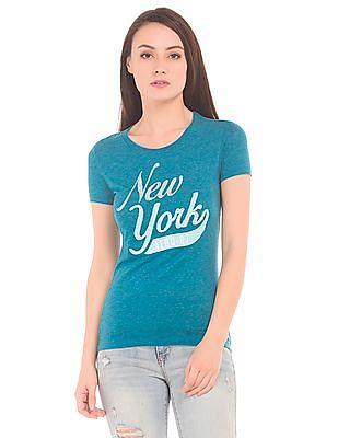 Aeropostale Applique Slub Knit T-Shirt