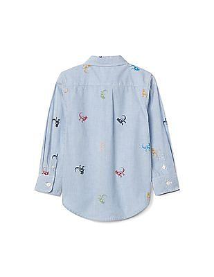 GAP Toddler Boy Dino Button Down Shirt