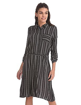 U.S. Polo Assn. Women Belted Shirt Dress