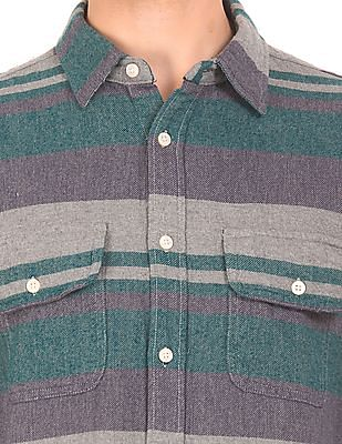 Aeropostale Cotton Twill Check Shirt