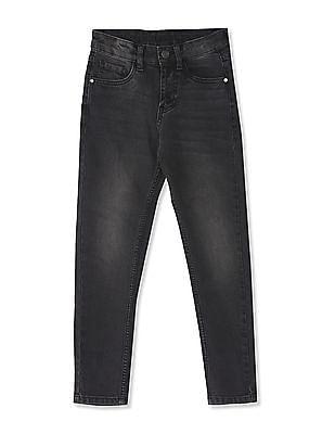 Cherokee Black Boys Mid Rise Slim Fit Jeans