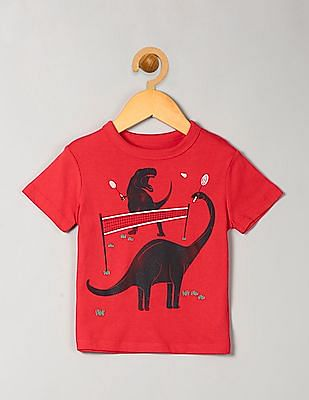GAP Baby Red Graphic Short Sleeve T-Shirt