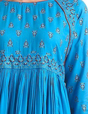 Anahi Long Sleeve Printed Kurta