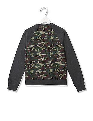 Flying Machine Regular Fit Printed Sweatshirt