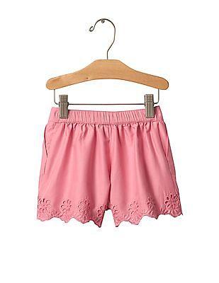 GAP Baby Eyelet Pull On Shorts