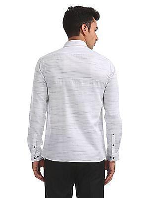 Arrow Newyork Patterned Striped Slim Fit Shirt