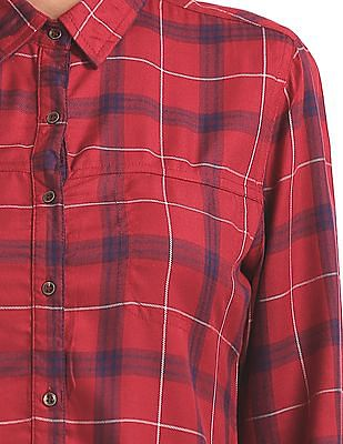 Cherokee Checked Long Sleeve Shirt