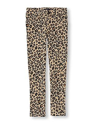 The Children's Place Girls Leopard Print Knitted Jeggings