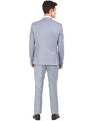 Arrow Patterned Slim Fit Suit