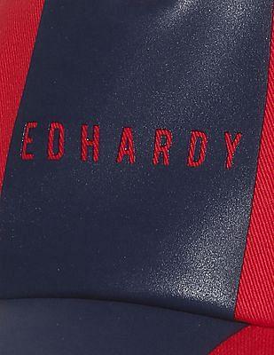 Ed Hardy Printed Branding Colour Block Cap