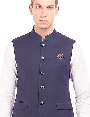 Arrow Two Tone Regular Fit Nehru Jacket