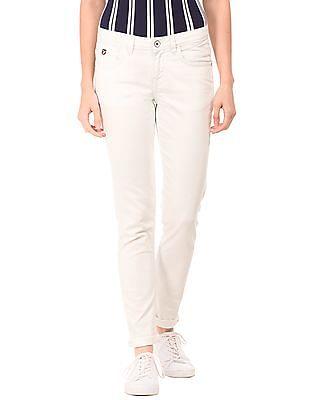 U.S. Polo Assn. Women Mid Rise Skinny Jeans