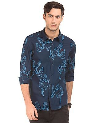 Ed Hardy Slim Fit Bird Print Shirt