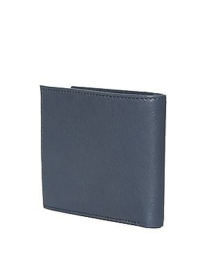 Flying Machine Blue Textured Leather Wallet