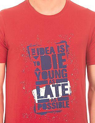 Colt Graphic Print Round Neck T-Shirt