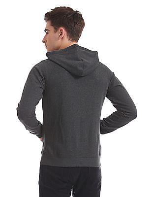 Flying Machine Slim Fit Hooded Sweatshirt