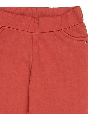 U.S. Polo Assn. Kids Girls Mock Pocket Knit Pants