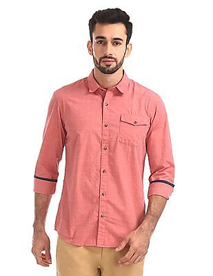 Ruggers Regular Fit Solid Shirt