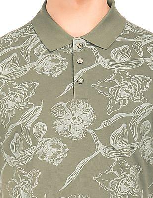 Cherokee Printed Pique Polo Shirt