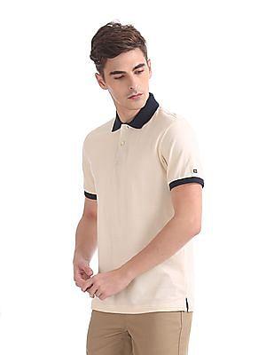 Arrow Sports Regular Fit Striped Knit Polo Shirt