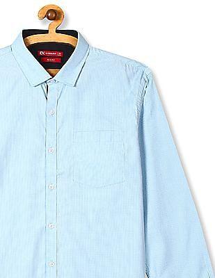 Excalibur Slim Fit Tonal Pattern Shirt