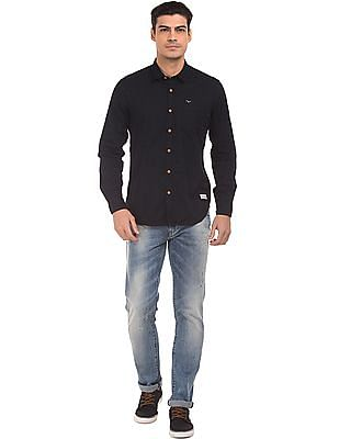 Flying Machine Speckled Slim Fit Shirt