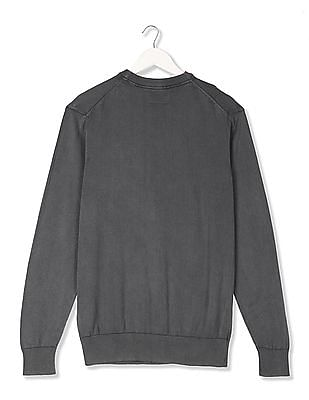 U.S. Polo Assn. Denim Co. Printed Front Crew Neck Sweater